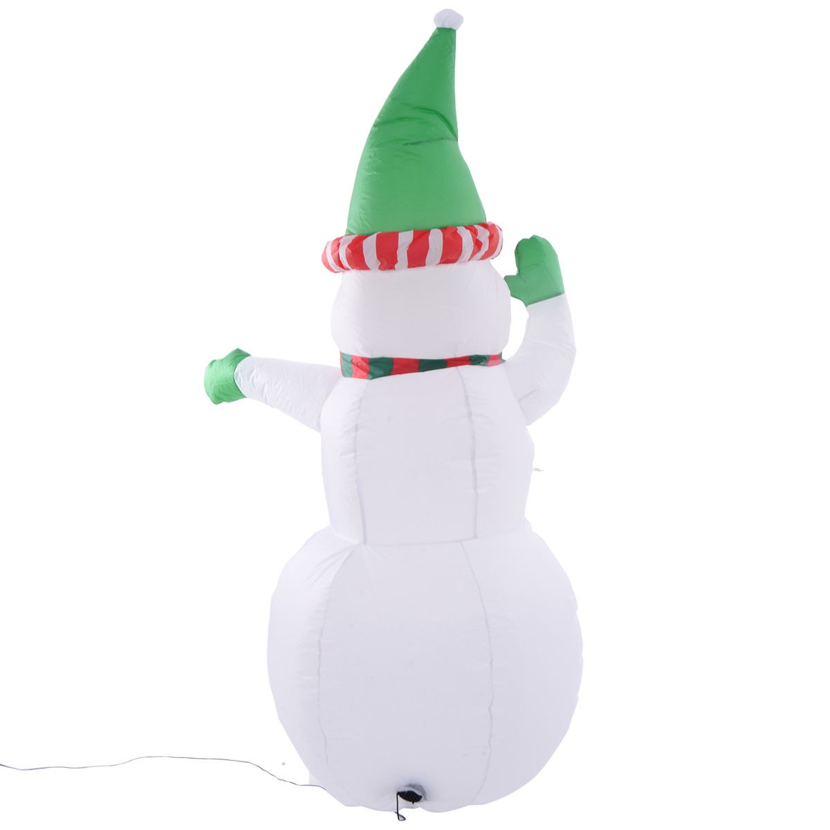 5ft airblown inflatable christmas decor snowman gemmy for Airblown nutcracker holiday lawn decoration