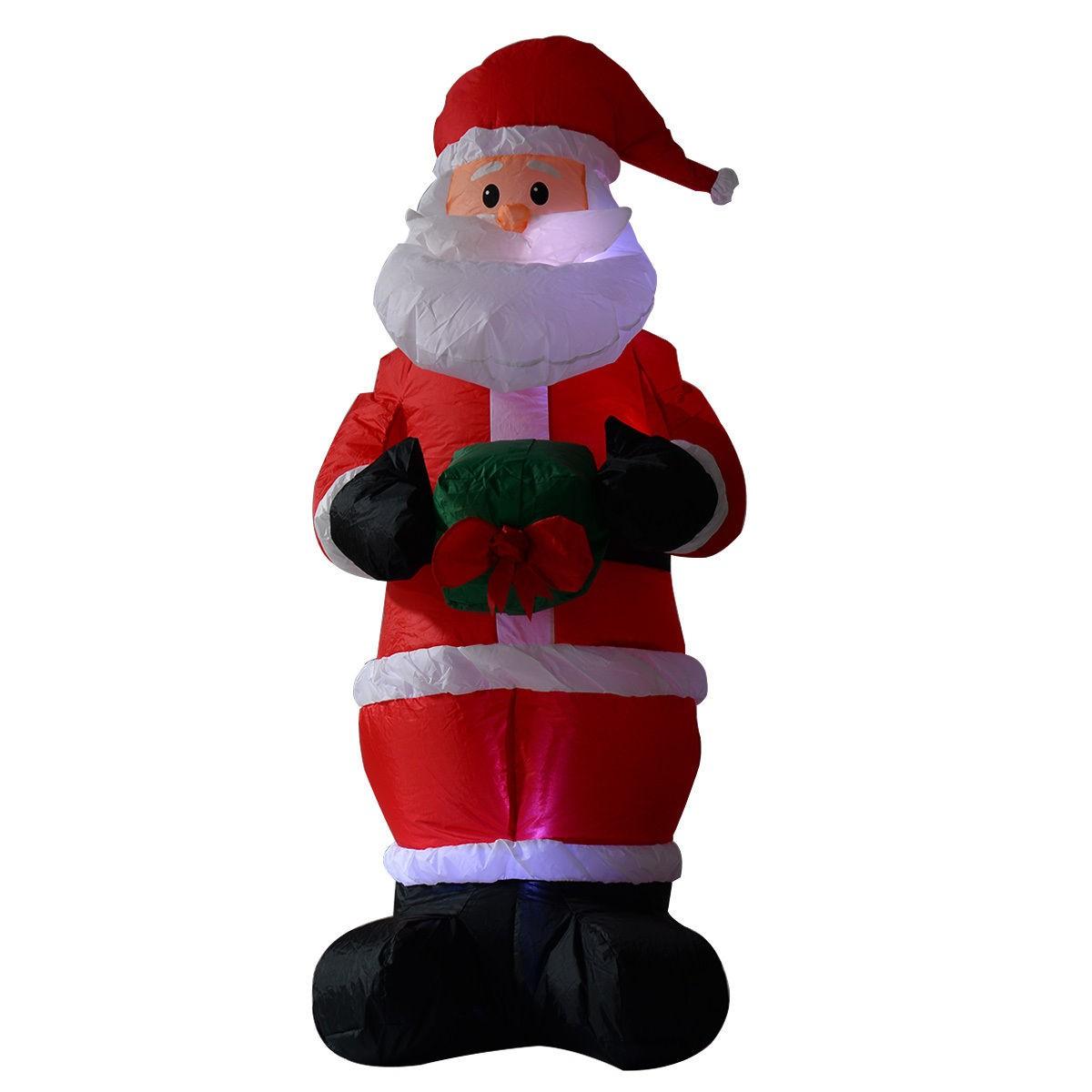 Us ft airblown inflatable christmas santa claus xmas