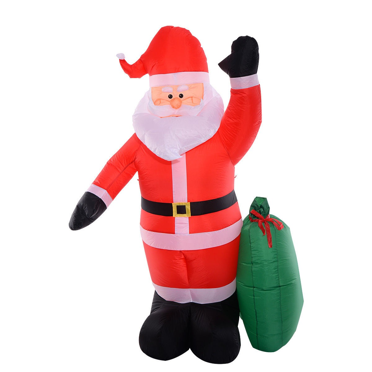 Ft airblown inflatable christmas santa claus gift lawn