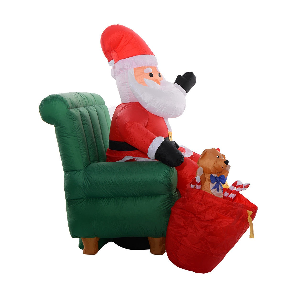 Ft airblown inflatable christmas santa claus on sofa