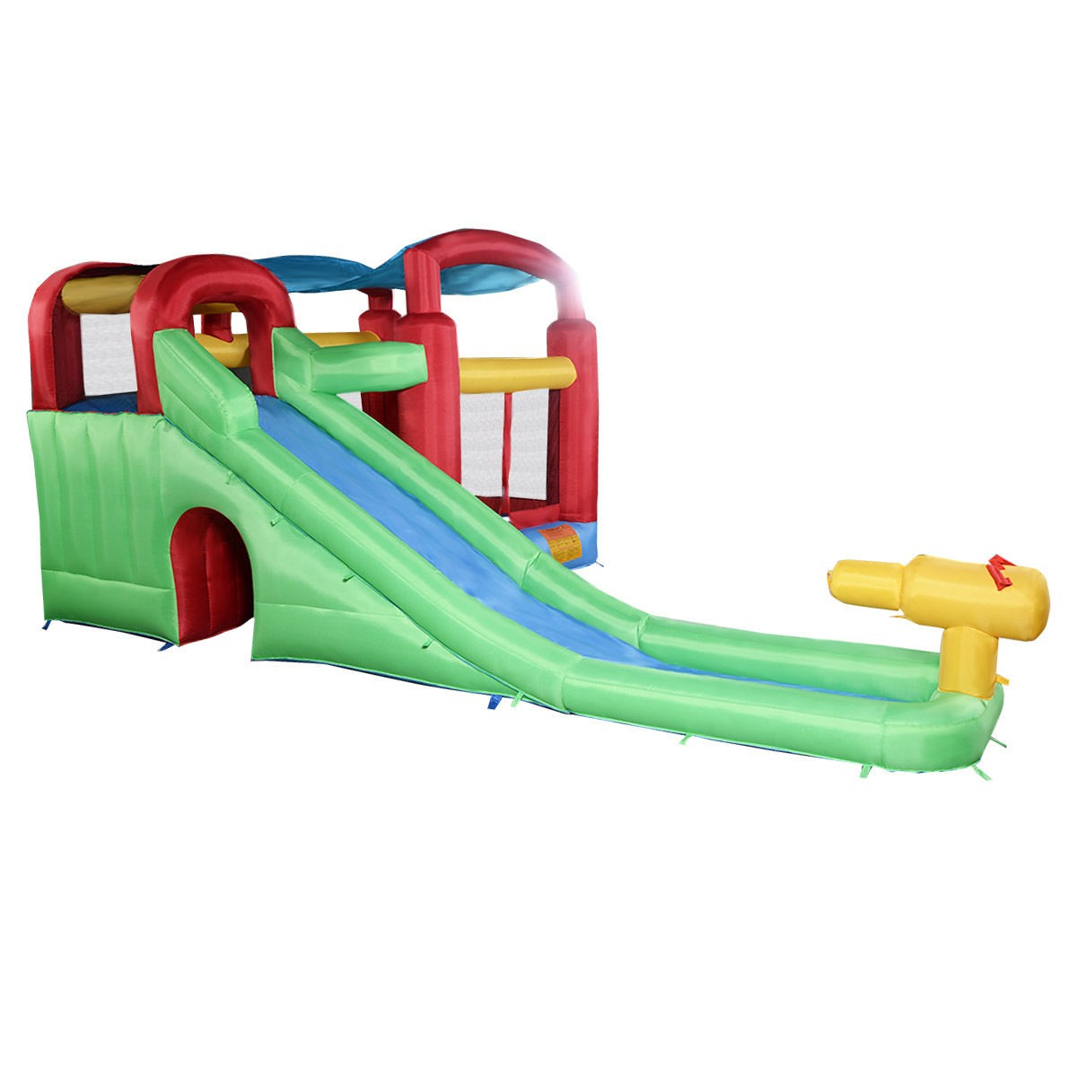 Inflatable Water Slide Instructions: Inflatable Moonwalk Water Slide Pool Bounce House Jumper