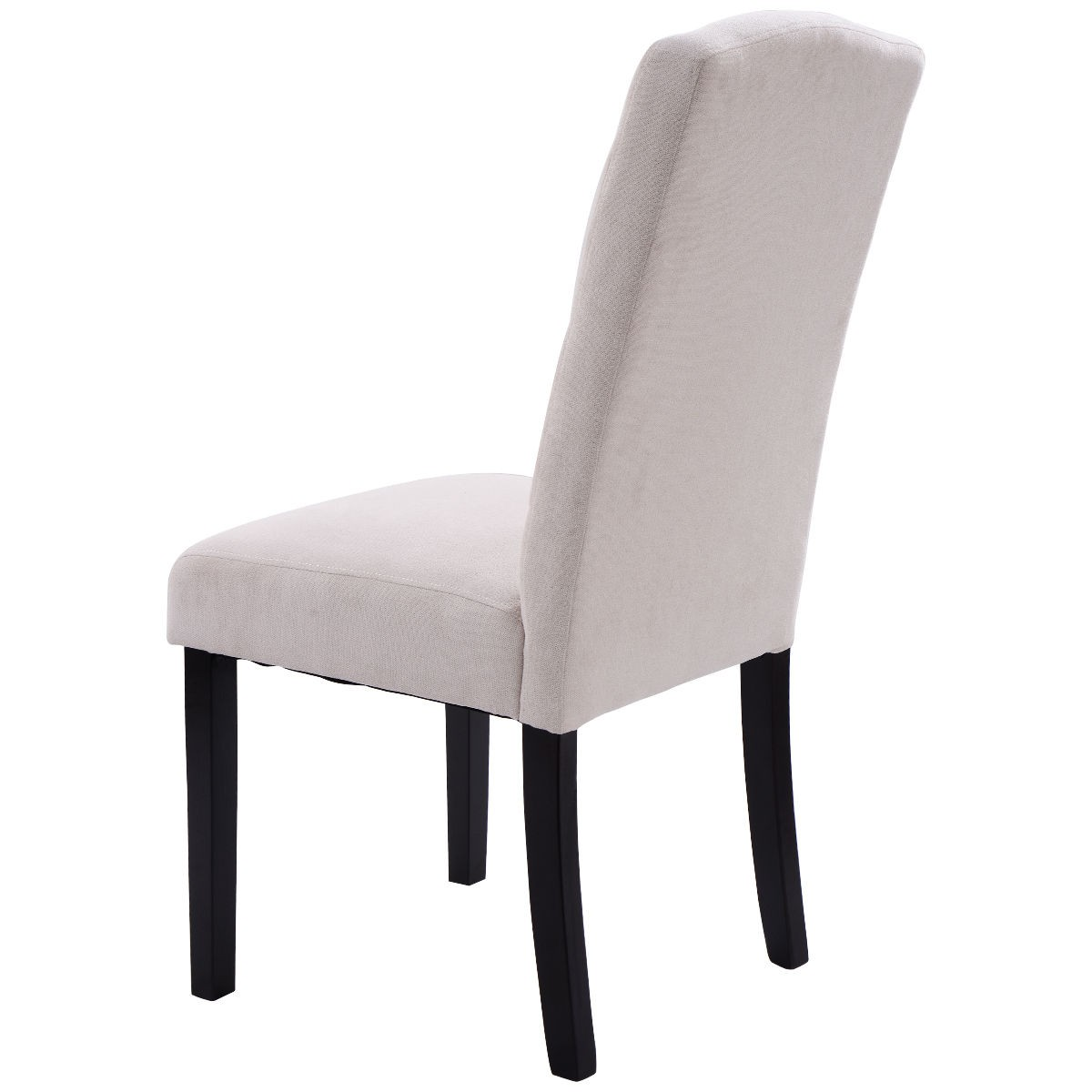 Dining Chair Set 2 Pair Accent Tufted Kitchen Modern Side: Wood Set Of 2 Fabric Accent Tufted Modern Dining Chair