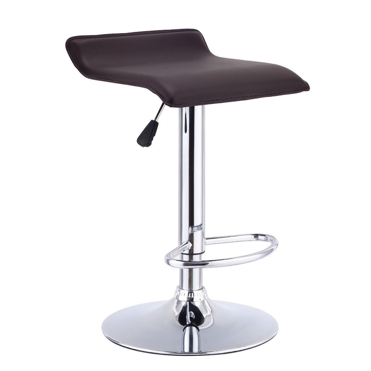 1 Pc Swivel Bar Stool Adjustable Modern Leather Dinning