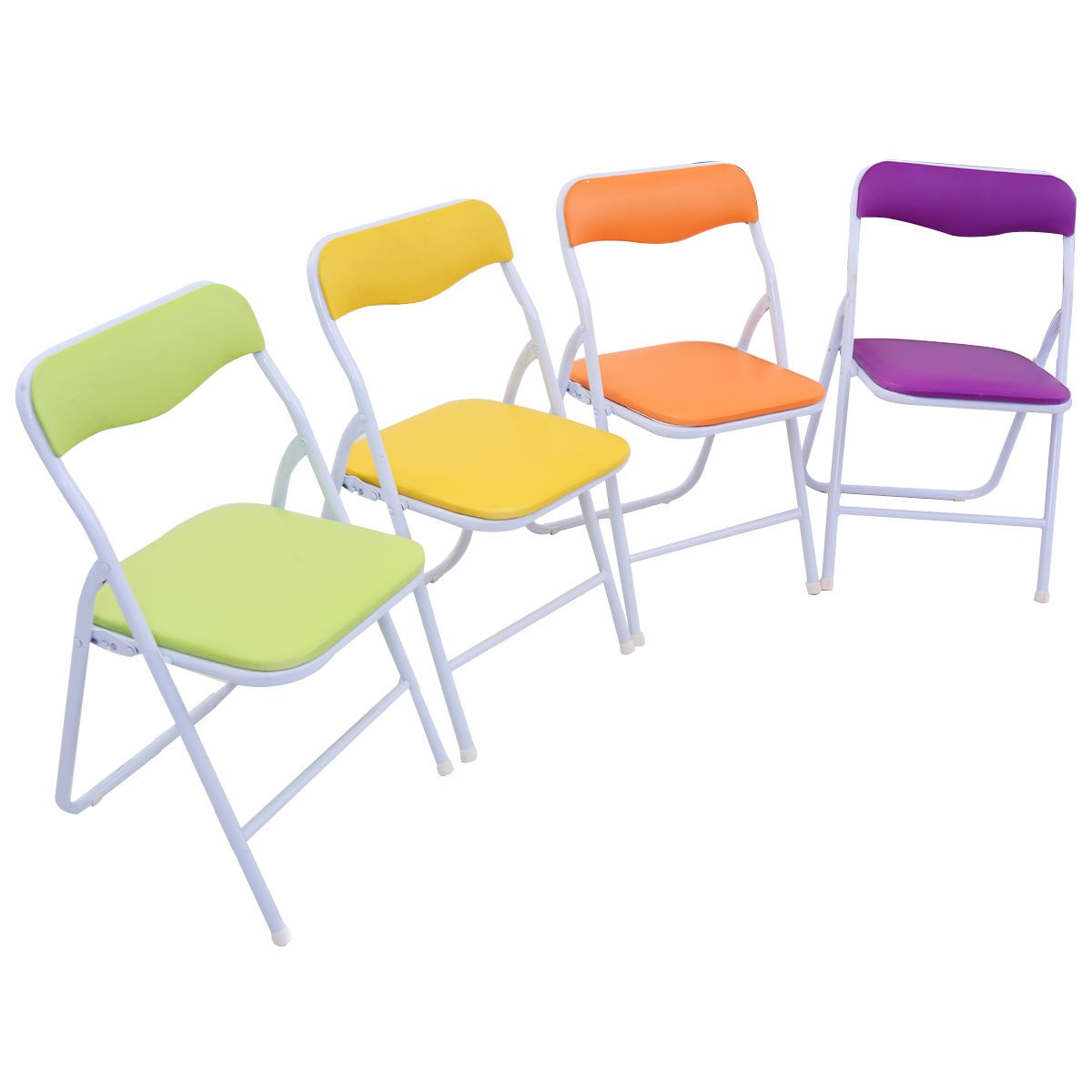 5PCS Folding Table Chair Set Children Kids Multicolor Play Room Furniture US