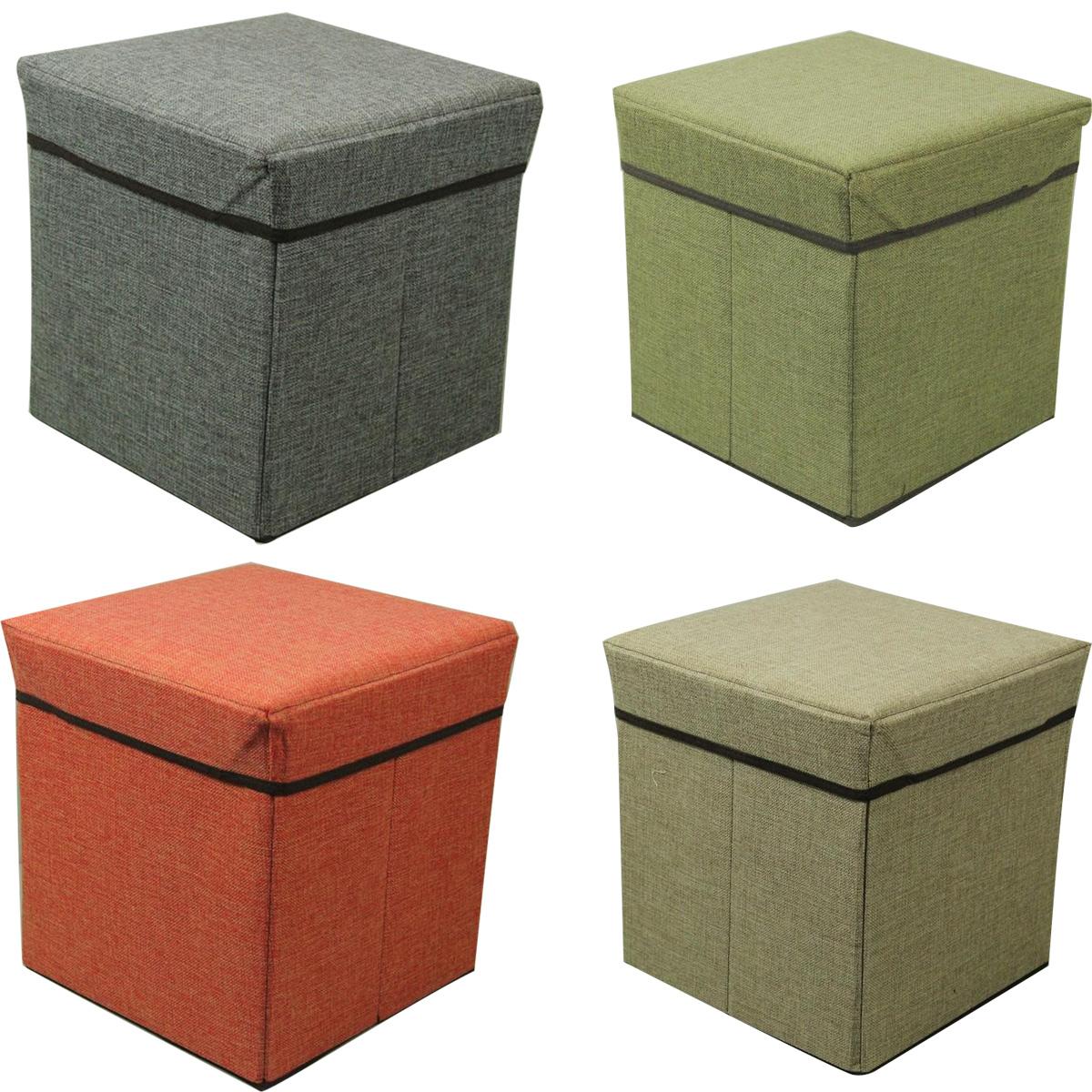 large folding storage single seat stool storage box