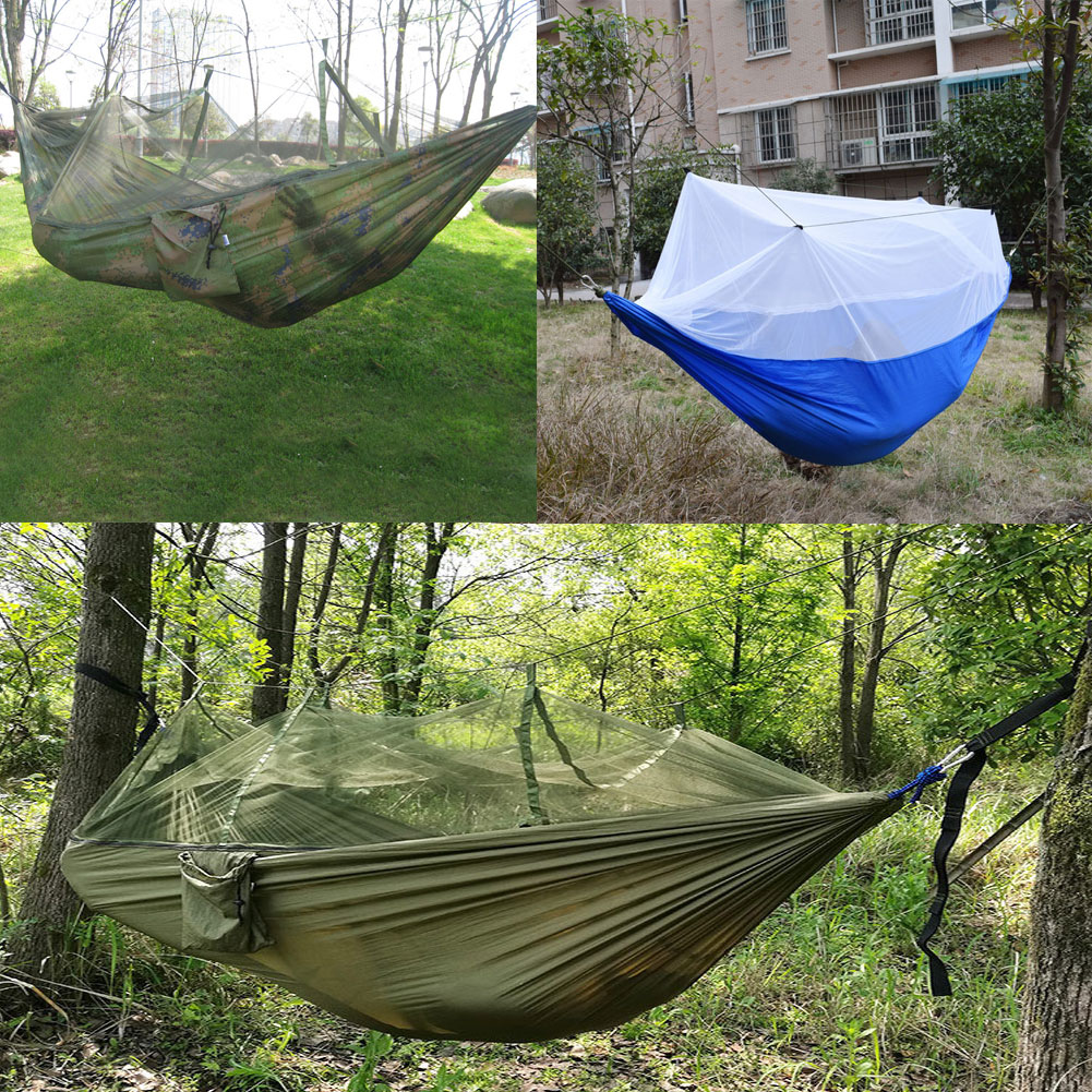 Camping portable high strength fabric hammock hanging bed for Net hammock bed