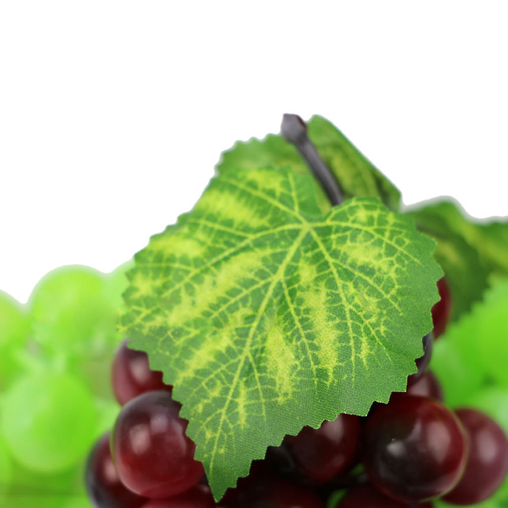 Bunch lifelike artificial grapes plastic fake fruit food for Artificial cherries decoration