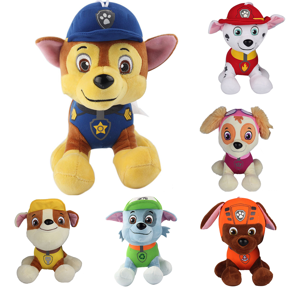 6pz paw patrol peluche cani cucciolo skye zuma nickelodeon 8 cane regali ebay. Black Bedroom Furniture Sets. Home Design Ideas