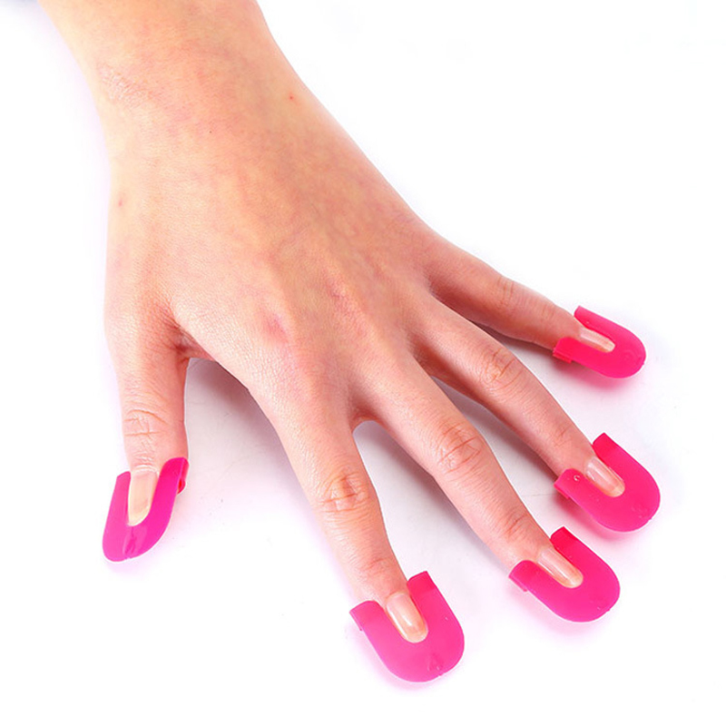 Red Nail Polish On Thumb: New Manicure Nail Gel Model Clip Edge Polish Glue Overflow