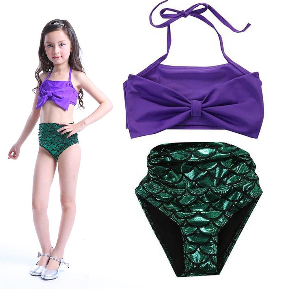 Moda estate ragazze 2 pezzi bambini lustrini costumi da bagno set bikini ebay - Costumi da bagno per ragazze ...