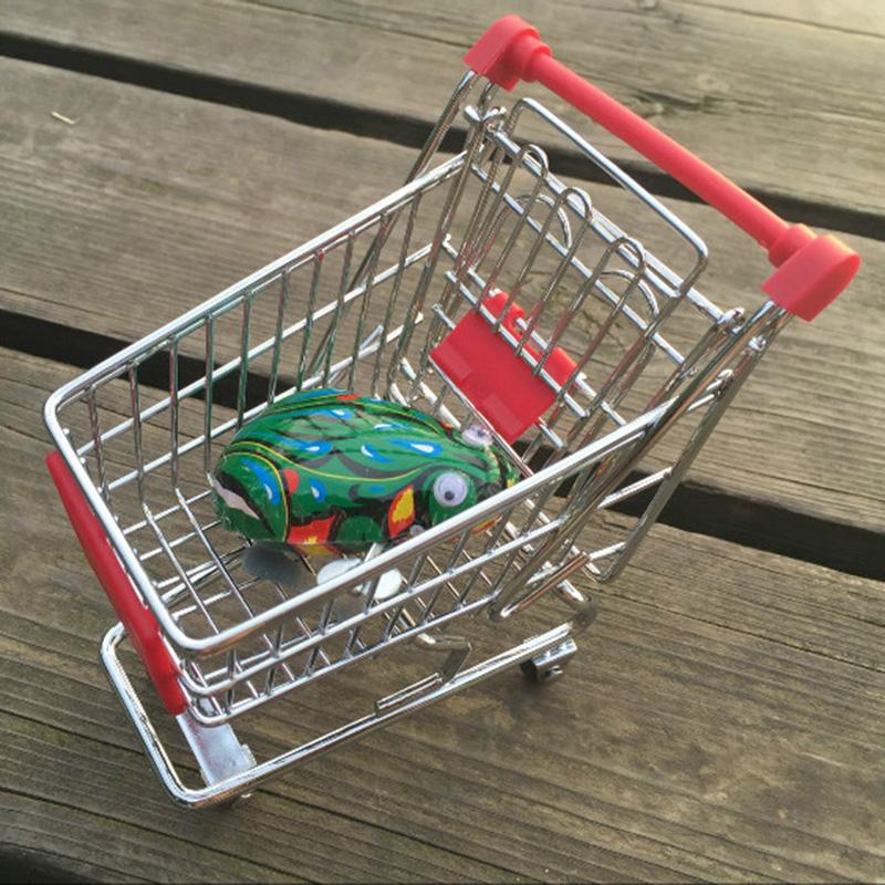 Mini supermarkt hand wagen einkaufswagen tisch handy