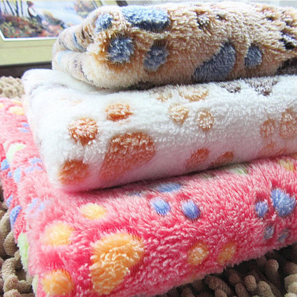 confortable doux animal chat tapis pour chien chiot chaud couverture polaire lit ebay. Black Bedroom Furniture Sets. Home Design Ideas
