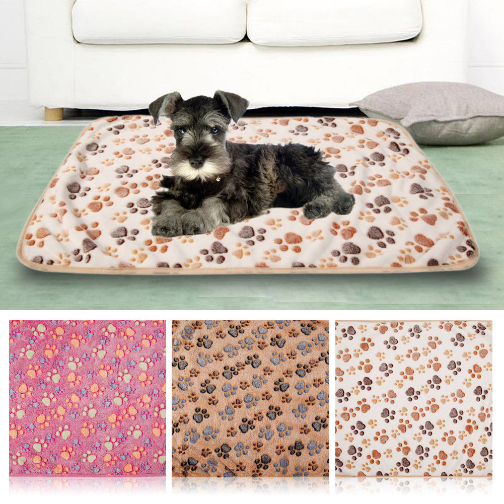 Pet Small Large Warm Paw Print Dog Puppy Cat Pig Fleece