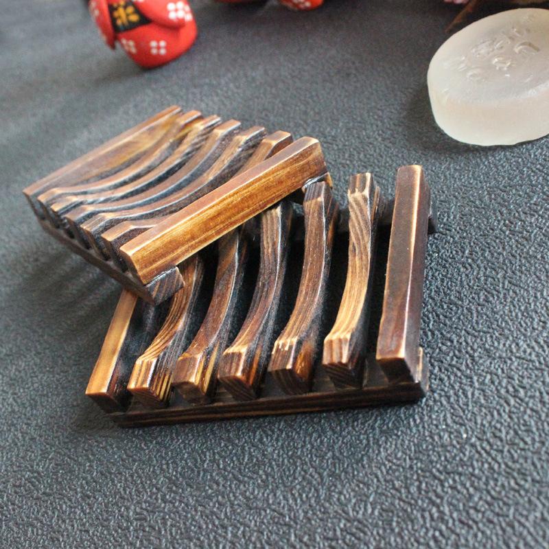 New Bathroom Accessories Handmade Natural Wood Soap Dish