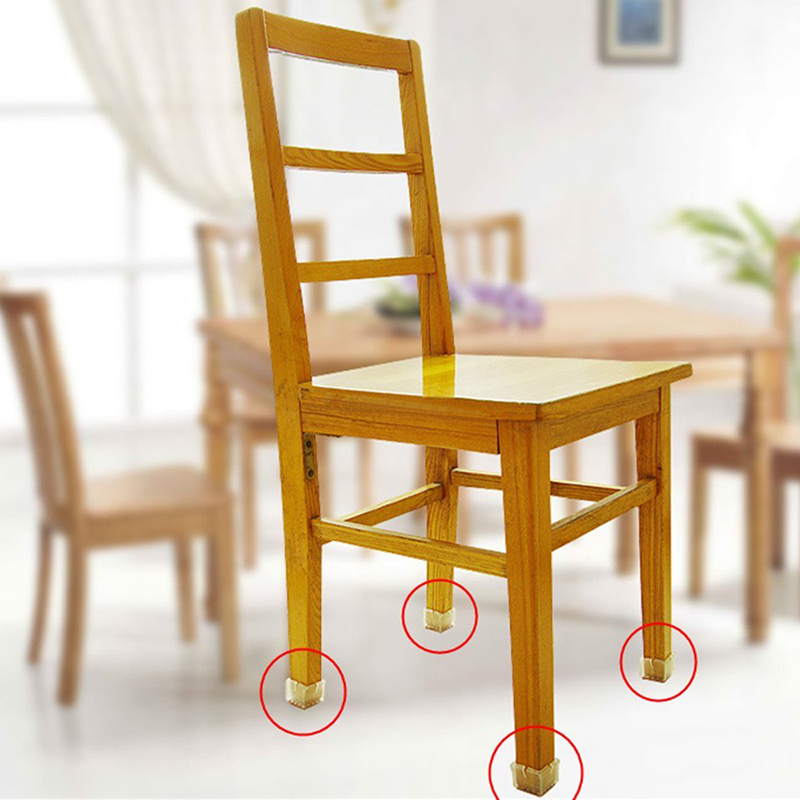 Wood floor protectors set chair leg feet felt pads square Furniture wood floor protectors