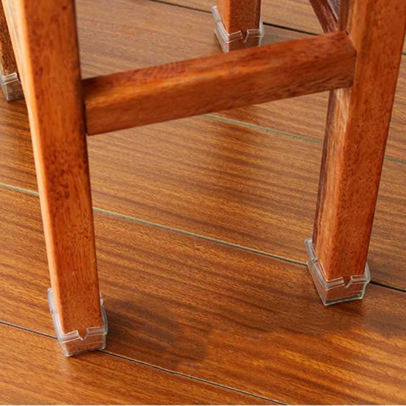 Wood floor protectors set chair leg feet felt pads square for Square footage of a room for flooring