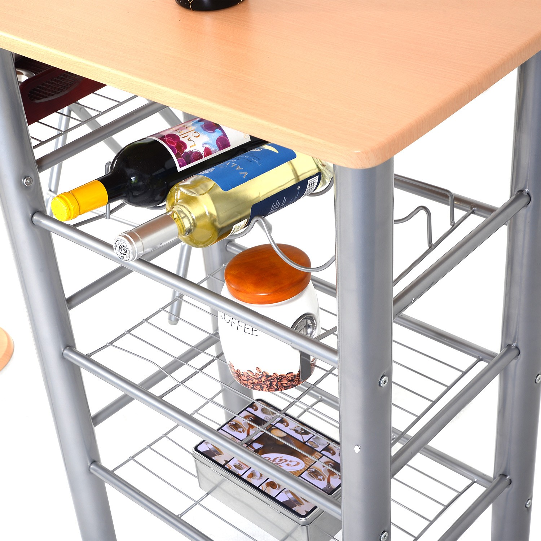 holz k chenbar mit 2 st hle k chentisch bistro tisch. Black Bedroom Furniture Sets. Home Design Ideas