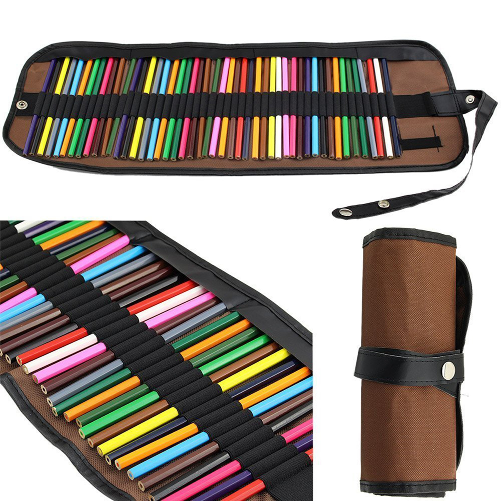canvas roll up pencils wrap colored pencils holder for. Black Bedroom Furniture Sets. Home Design Ideas