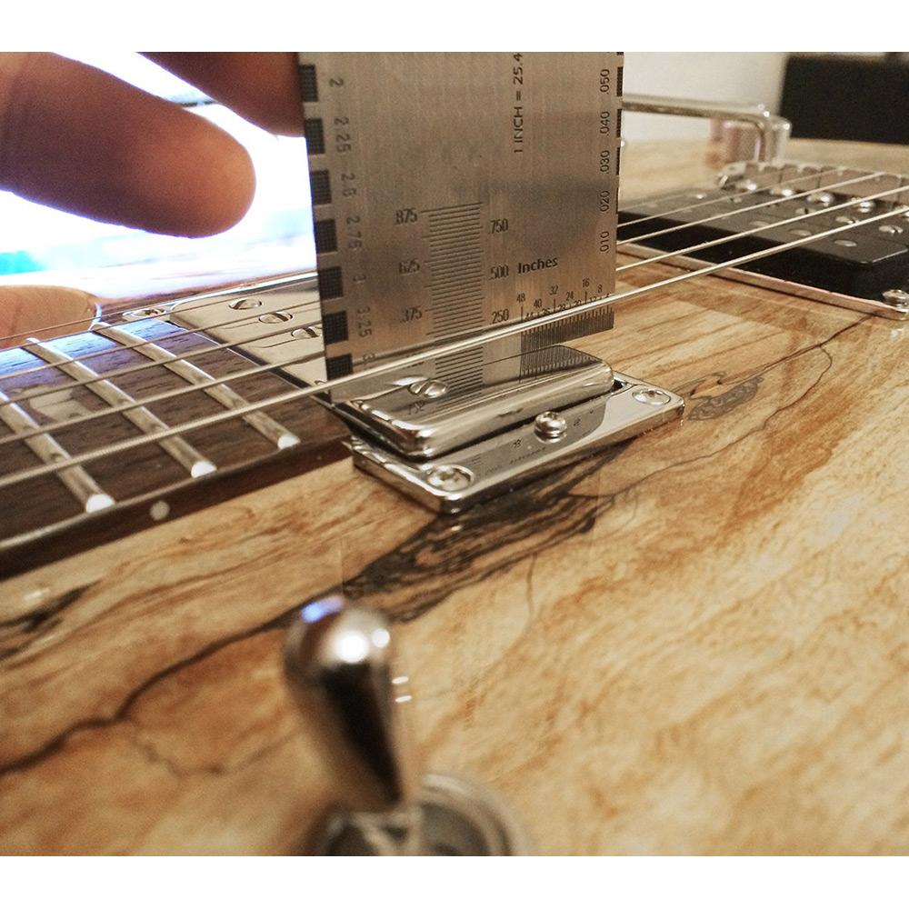 electric string action gauge ruler measuring luthier for guitar bass guide setup ebay. Black Bedroom Furniture Sets. Home Design Ideas