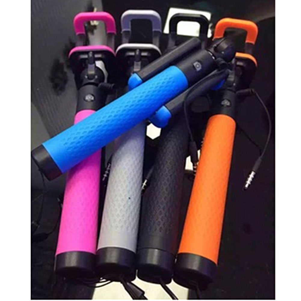 travel folding wired selfi selfie stick monopod self pole for iphone android new ebay. Black Bedroom Furniture Sets. Home Design Ideas