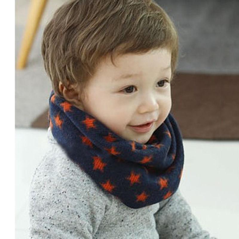 Knitting Pattern For Toddler Neck Warmer : Kids Winter Scarf Neckerchief Toddler Knitted Woolen Neck Warmer O Ring Shawl...
