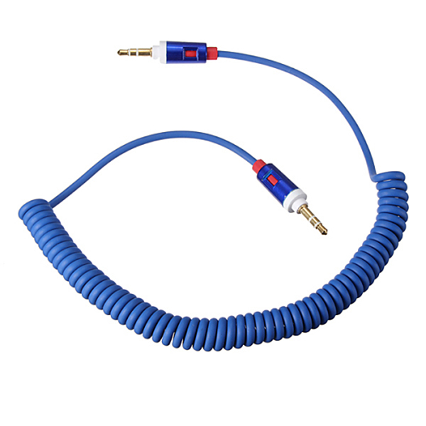 Coil Extension Lead : Mm headphones aux auxiliary coil coiled cord extension