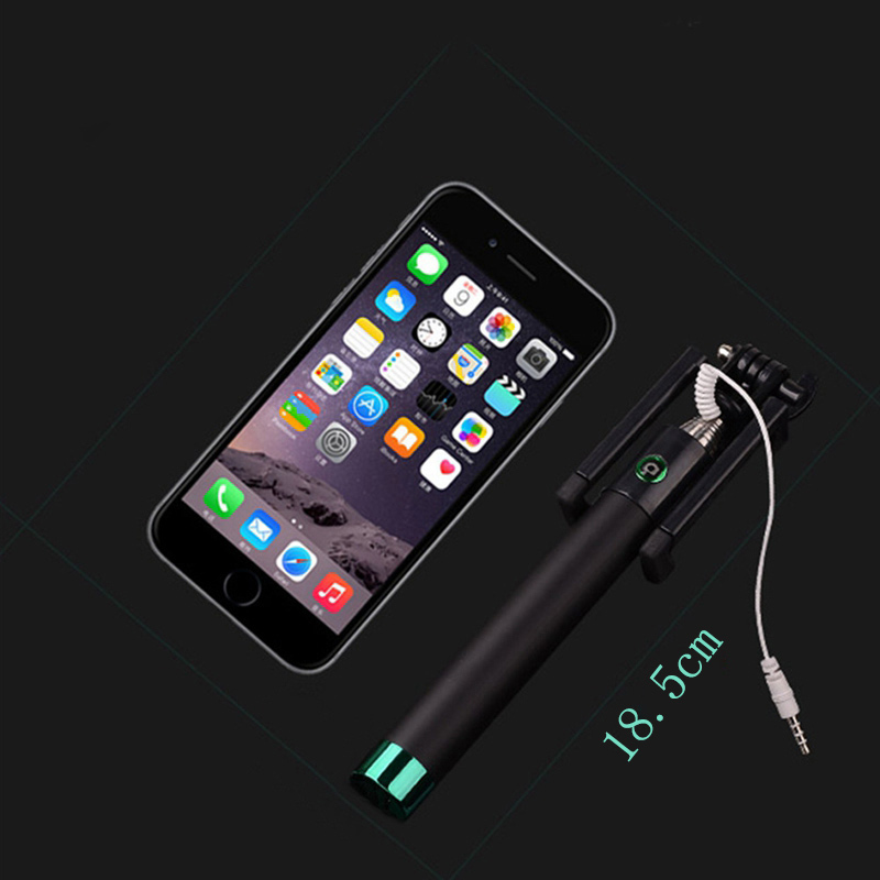 pop monopod selfie stick wired foldable mobile phone holder for samsung iphone ebay. Black Bedroom Furniture Sets. Home Design Ideas