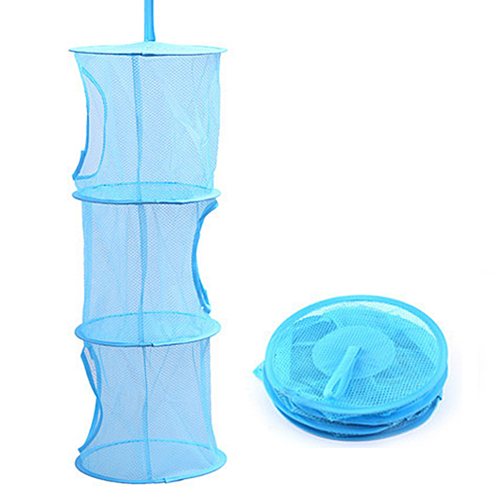 3 tier kids compartment net hanging storage toy bedroom for Hanging toy net