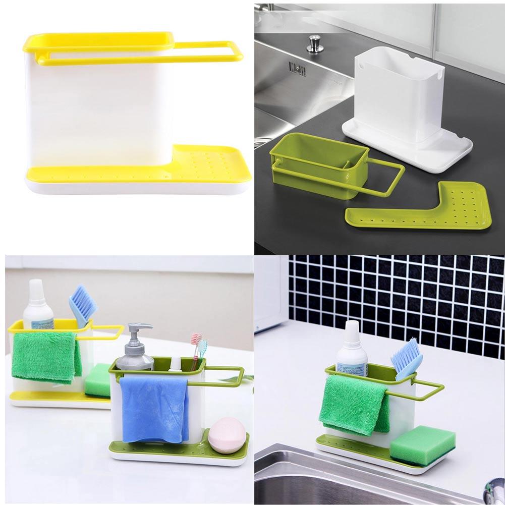 Plastic Racks Organizer Caddy Storage Kitchen Sink Utensil Holder