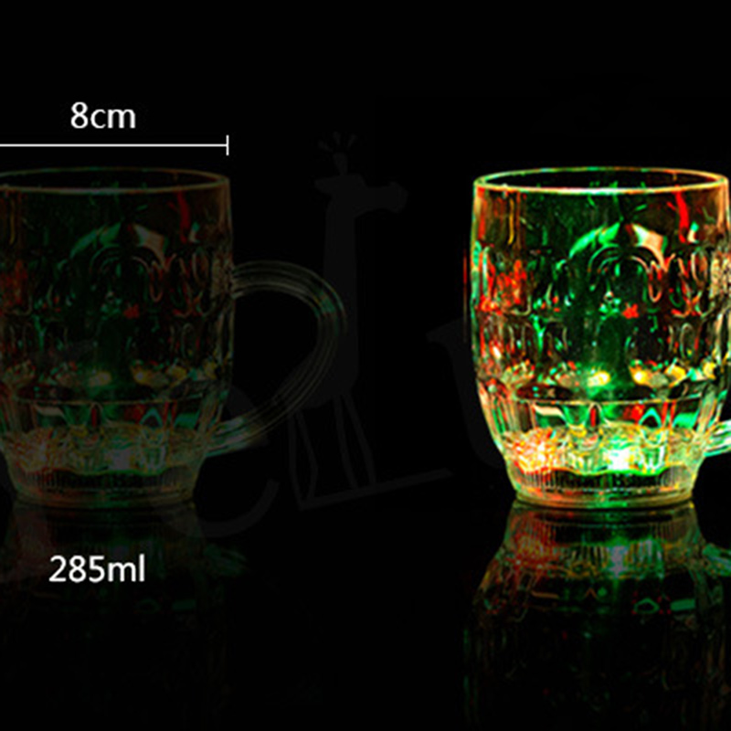 Christmas led beer cup flash light shot drink glass bars for Christmas in a glass cocktail