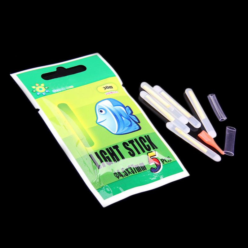 5pcs set fishing light sticks fishing gear glow stick for Fishing glow sticks