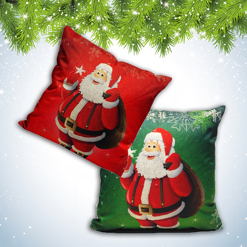 New christmas festive sofa bed printed decor cushion cover for Sofa bed for xmas