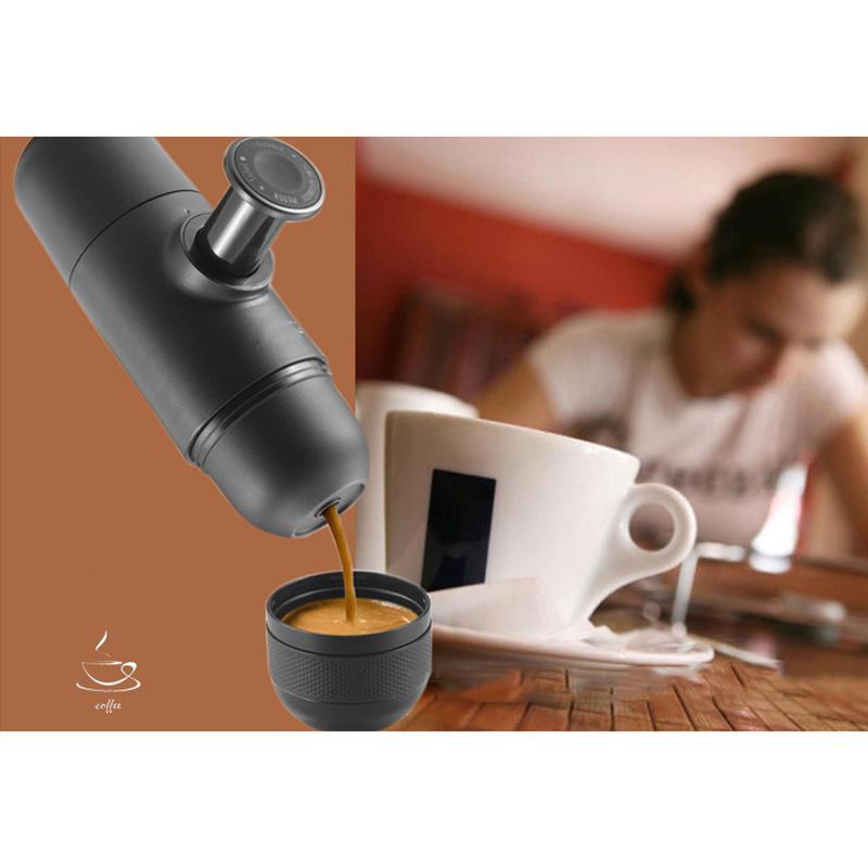 mini kaffee maschine hand pressee tragbare espressomaschine f r reise bewegbar ebay. Black Bedroom Furniture Sets. Home Design Ideas