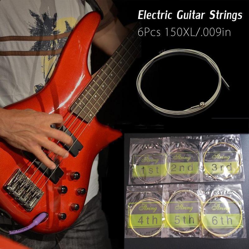 6pcs 150xl 009in electric guitar amp brass strings set for fender instrument ebay. Black Bedroom Furniture Sets. Home Design Ideas