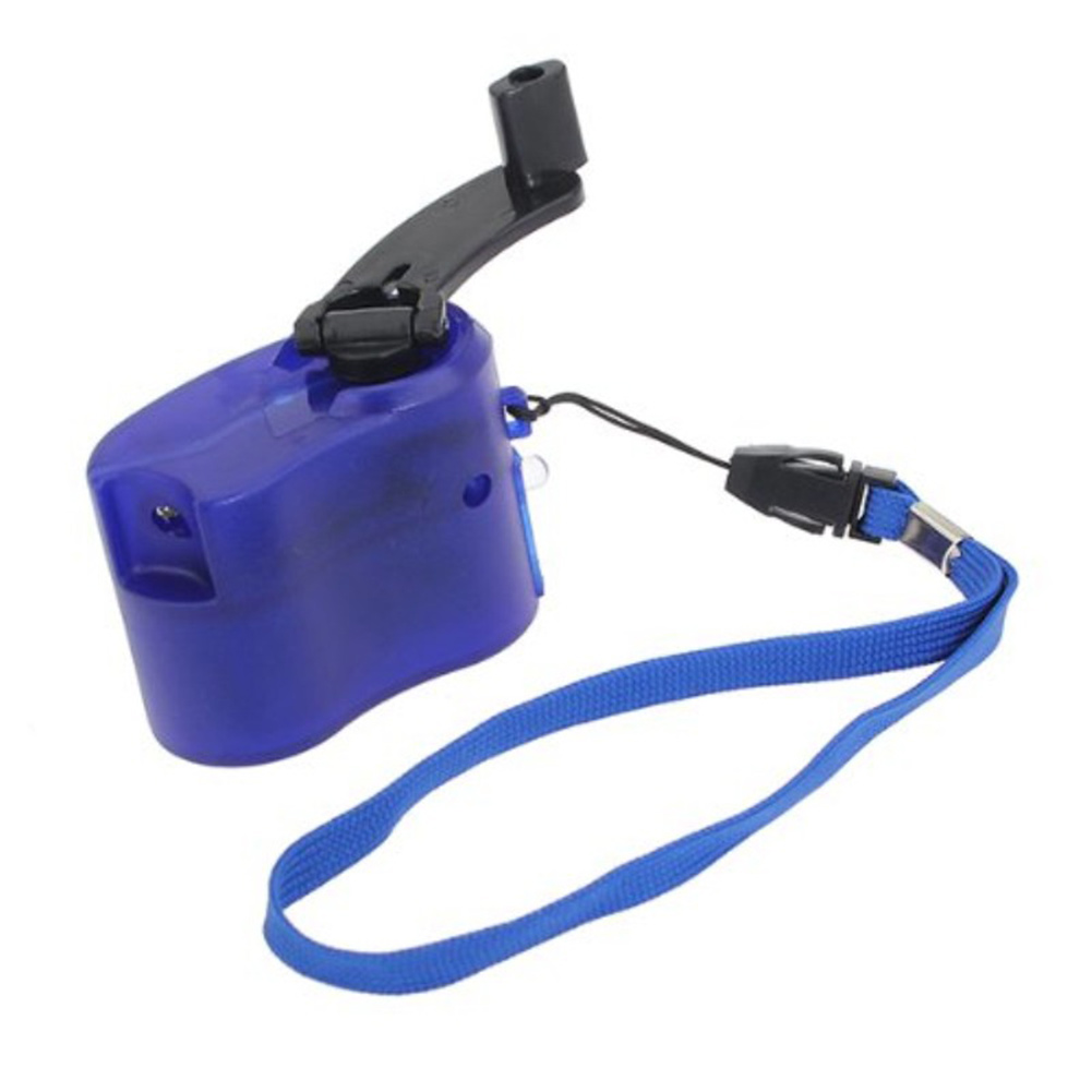 Portable Outdoor Hand Crank Wind Up USB Cell Phone