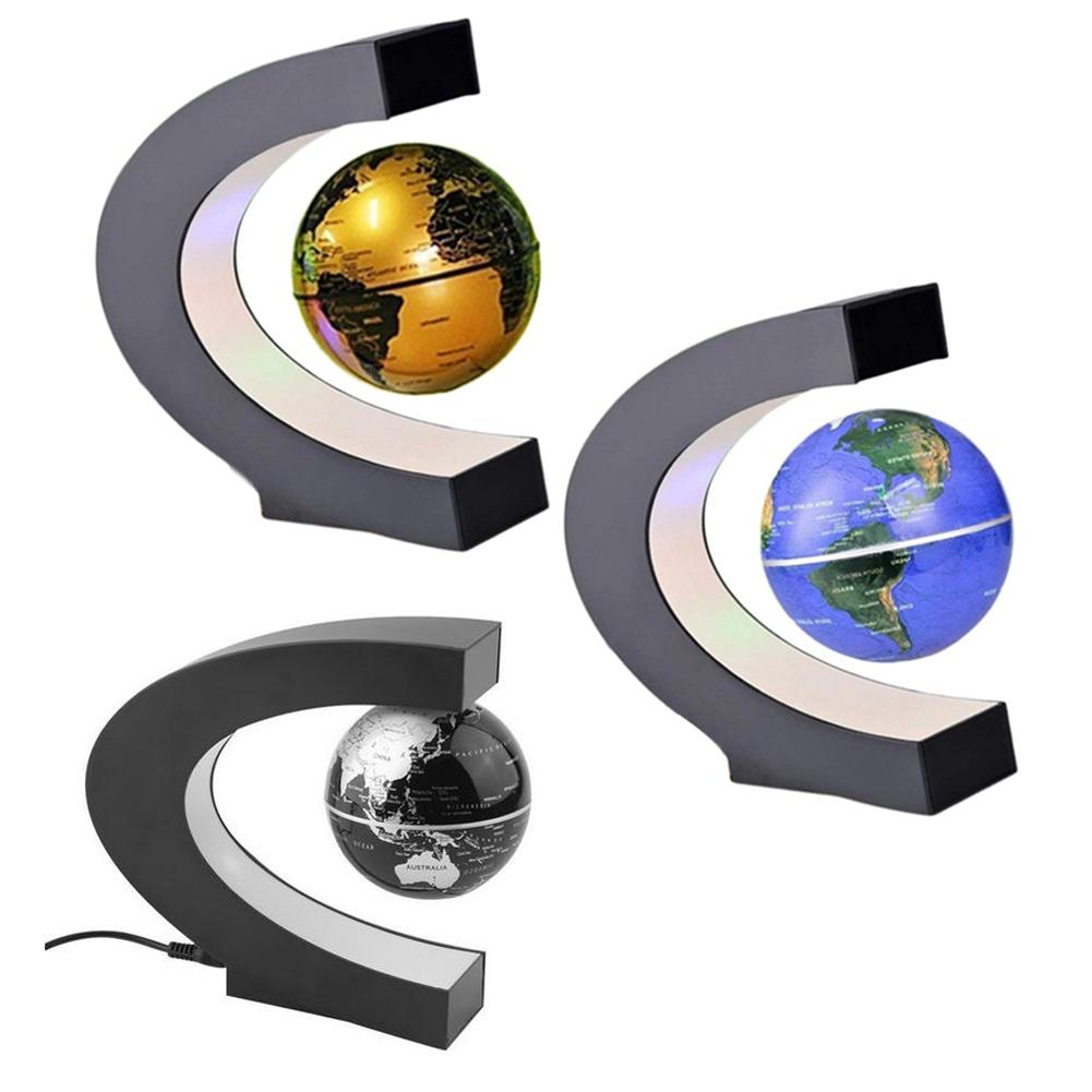 LED C Shape World Map Magnetic Levitation Floating Globe ...