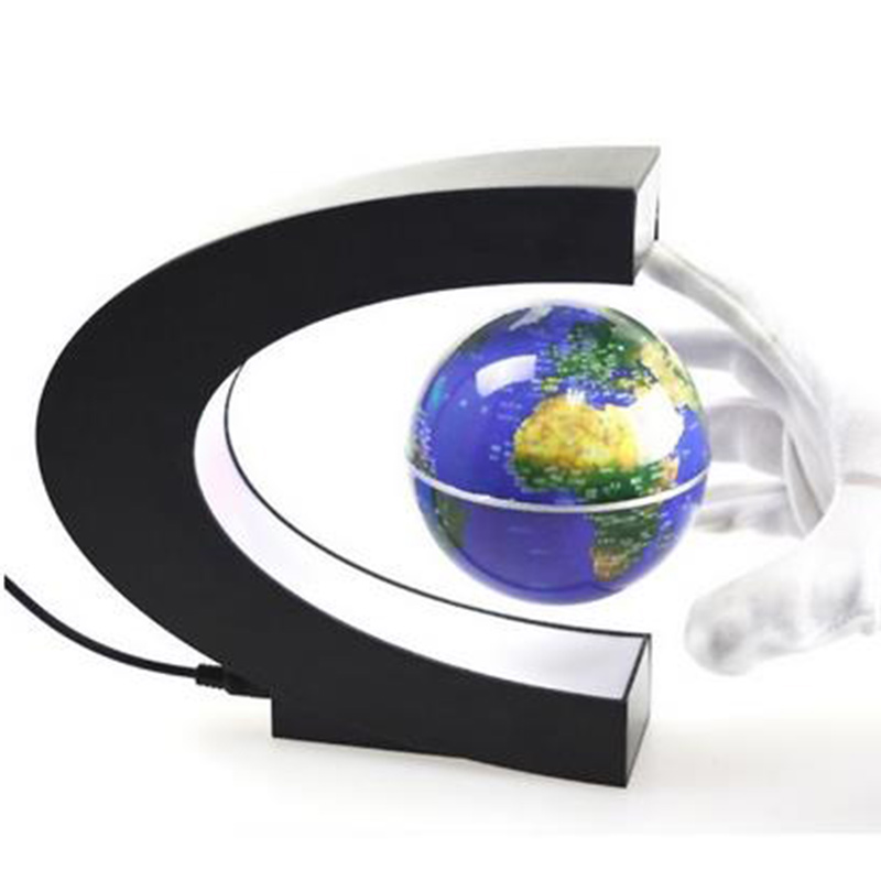 Led magnetic levitation the globe tellurion home decor for Decor planet