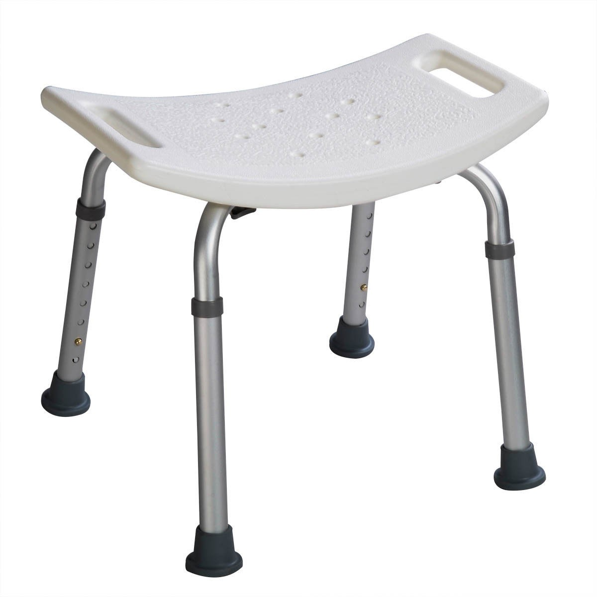 US Adjustable 8 Height Shower Chair Medical Bath Bench Bathtub Stool ...