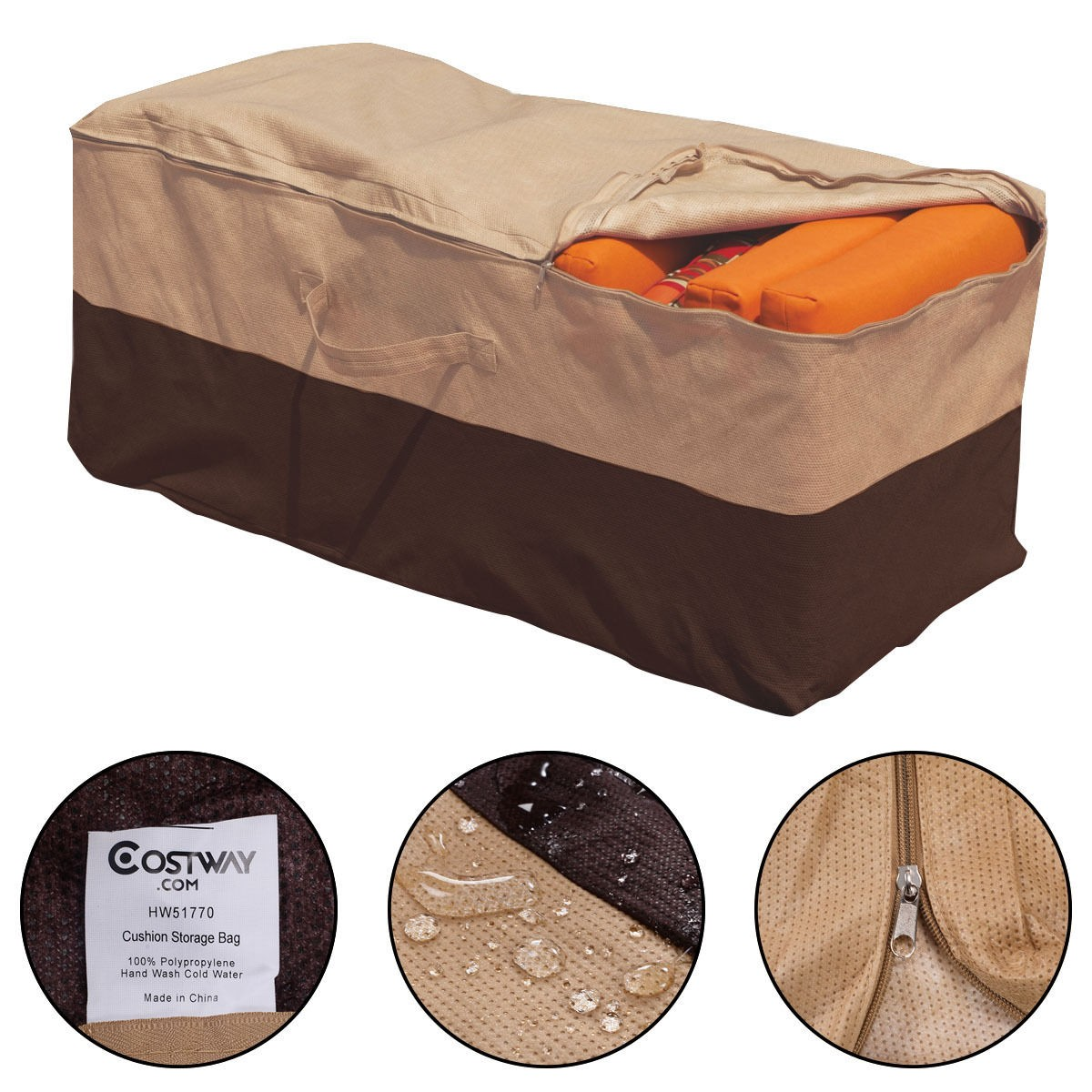 Details About In Outdoor Waterproof Storage Bag Patio Furniture Chaise Chair Cushion Protector