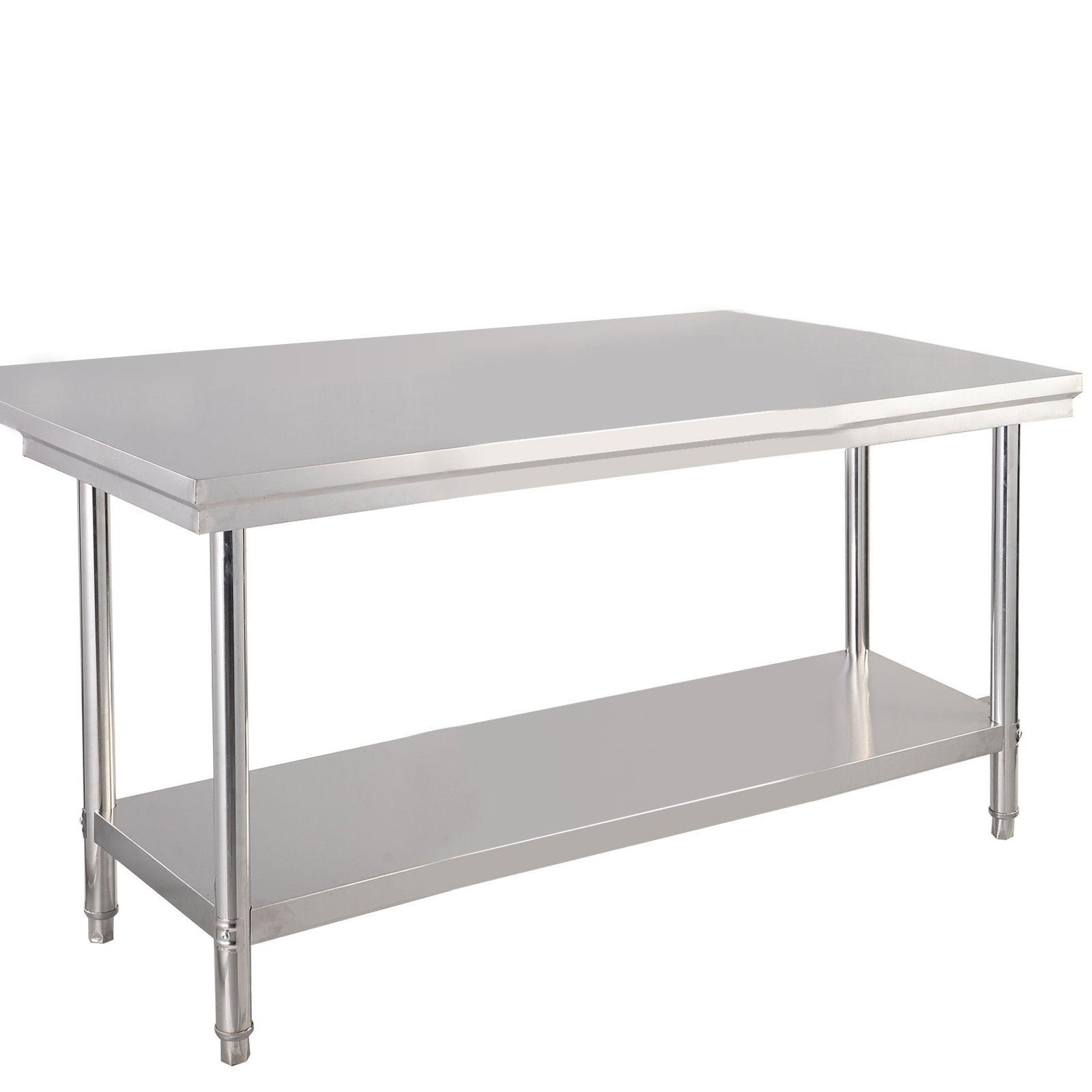 Stainless Steel Tier Work Food Prep Table Desk X Kitchen - Small stainless steel work table