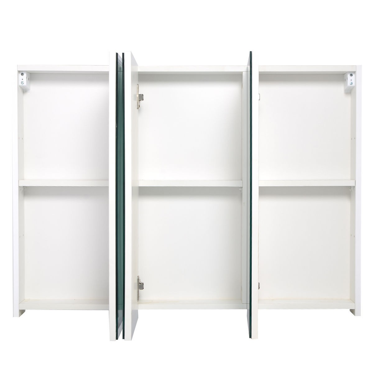 3 door mirrored bathroom cabinet white 3 mirror door 36 quot 20 quot wide wall mount mirrored bathroom 24756