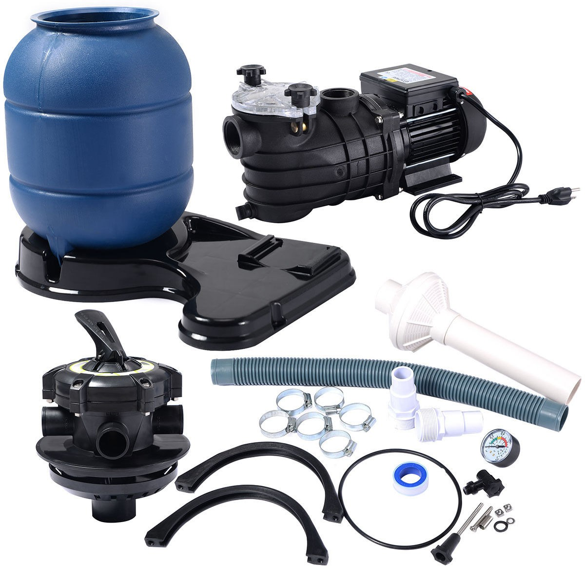 pro 2450gph 13 sand filter above ground swimming spa water pool pump 10000gal ebay. Black Bedroom Furniture Sets. Home Design Ideas
