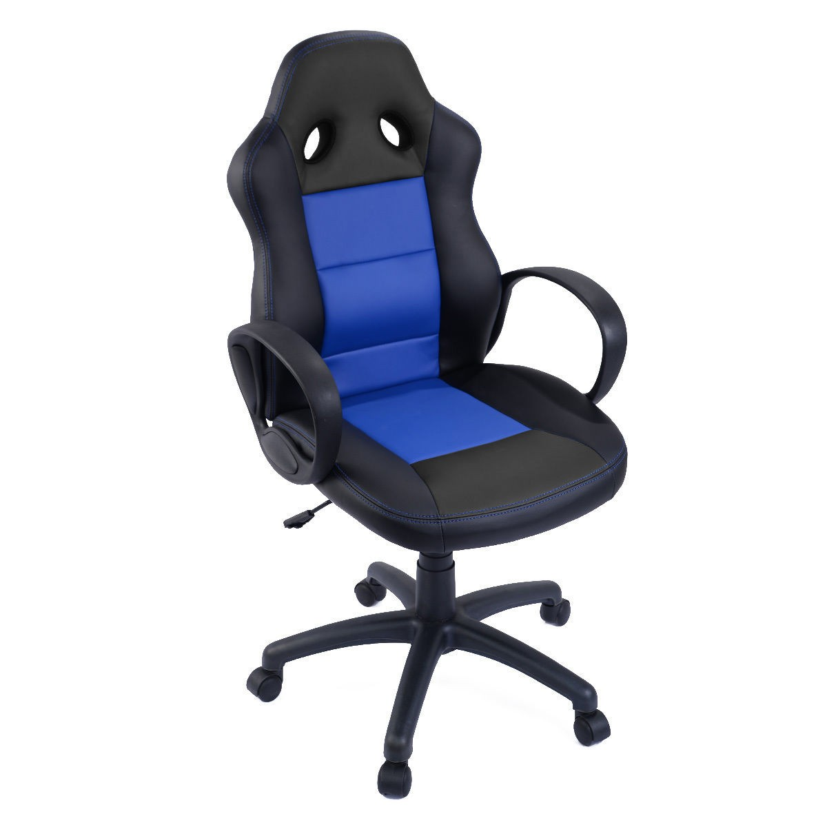 Pu Leather High Back Bucket Seat Office Desk Chair Race Car Style Gaming
