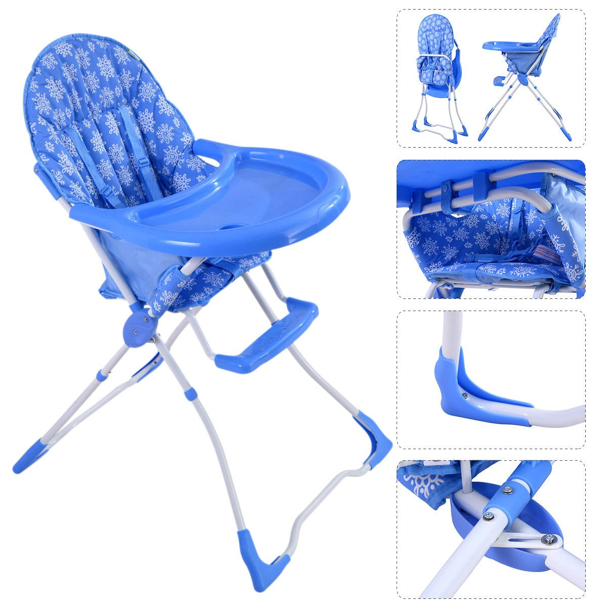 Miraculous Details About Baby High Chair Infant Toddler Feeding Booster Seat Folding Safe Portable Kids Andrewgaddart Wooden Chair Designs For Living Room Andrewgaddartcom