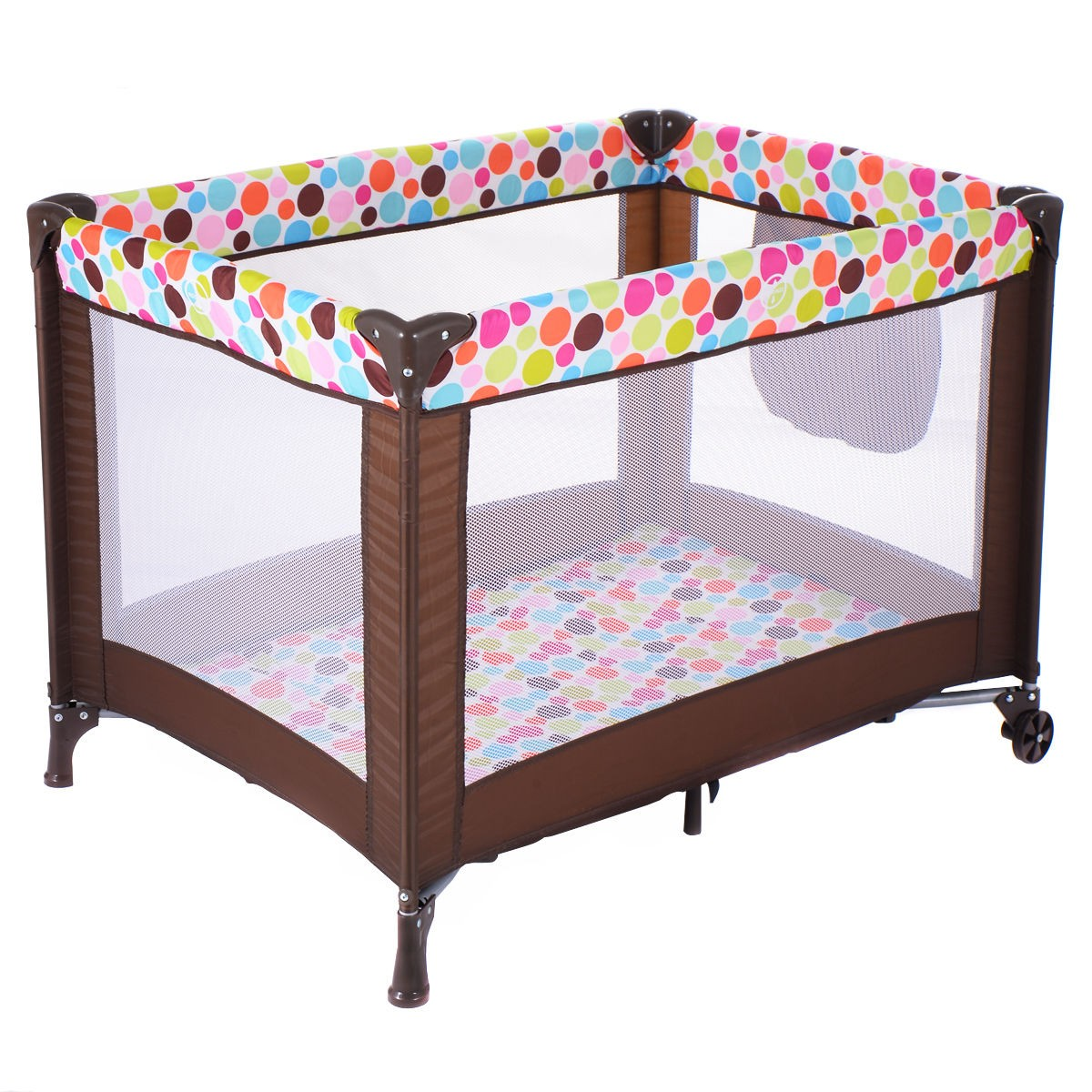 Foldable Pack Play Playard Baby Bassinet Travel Portable ...