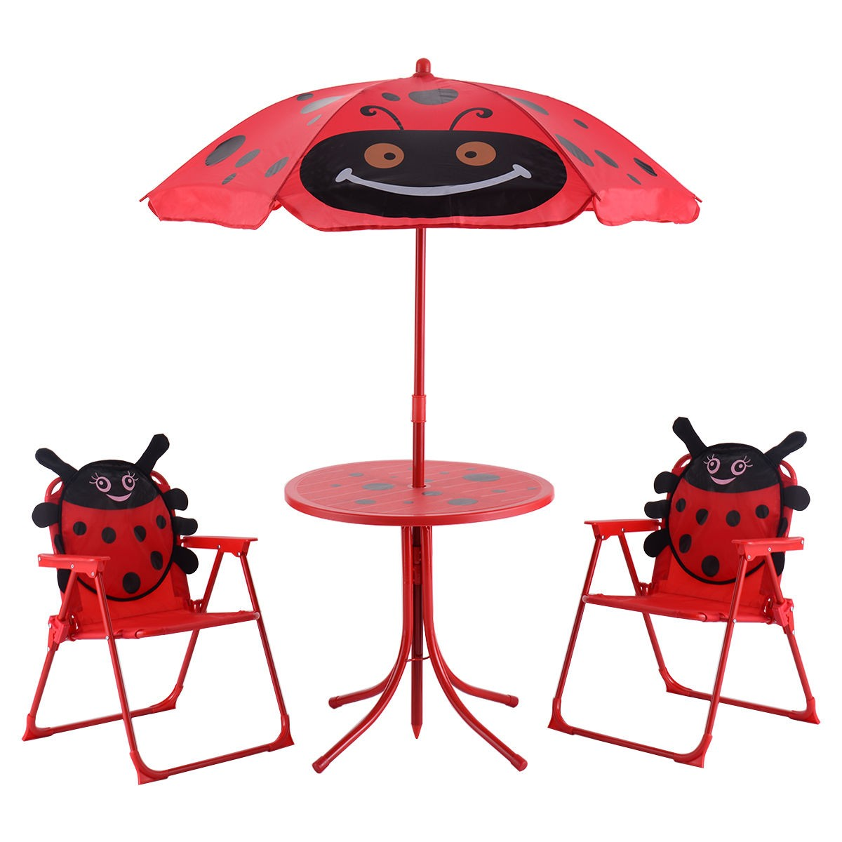 Stupendous Details About Outdoor Garden Ladybug Print Kids Child Table 2 Folding Chairs W Umbrella Beetle Inzonedesignstudio Interior Chair Design Inzonedesignstudiocom