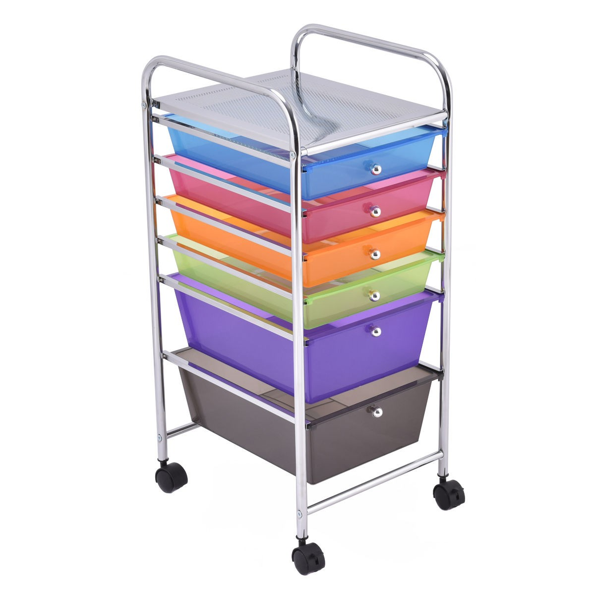 rolling storage carts 6 drawers rolling storage cart tools scrapbook paper 25642