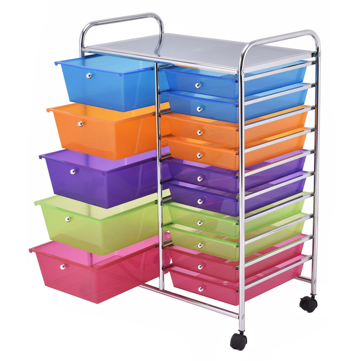Charming USCHW53825 (This Is US Stock With Fast Shipping!) Our 15 Drawer Rolling  Storage Cart ...