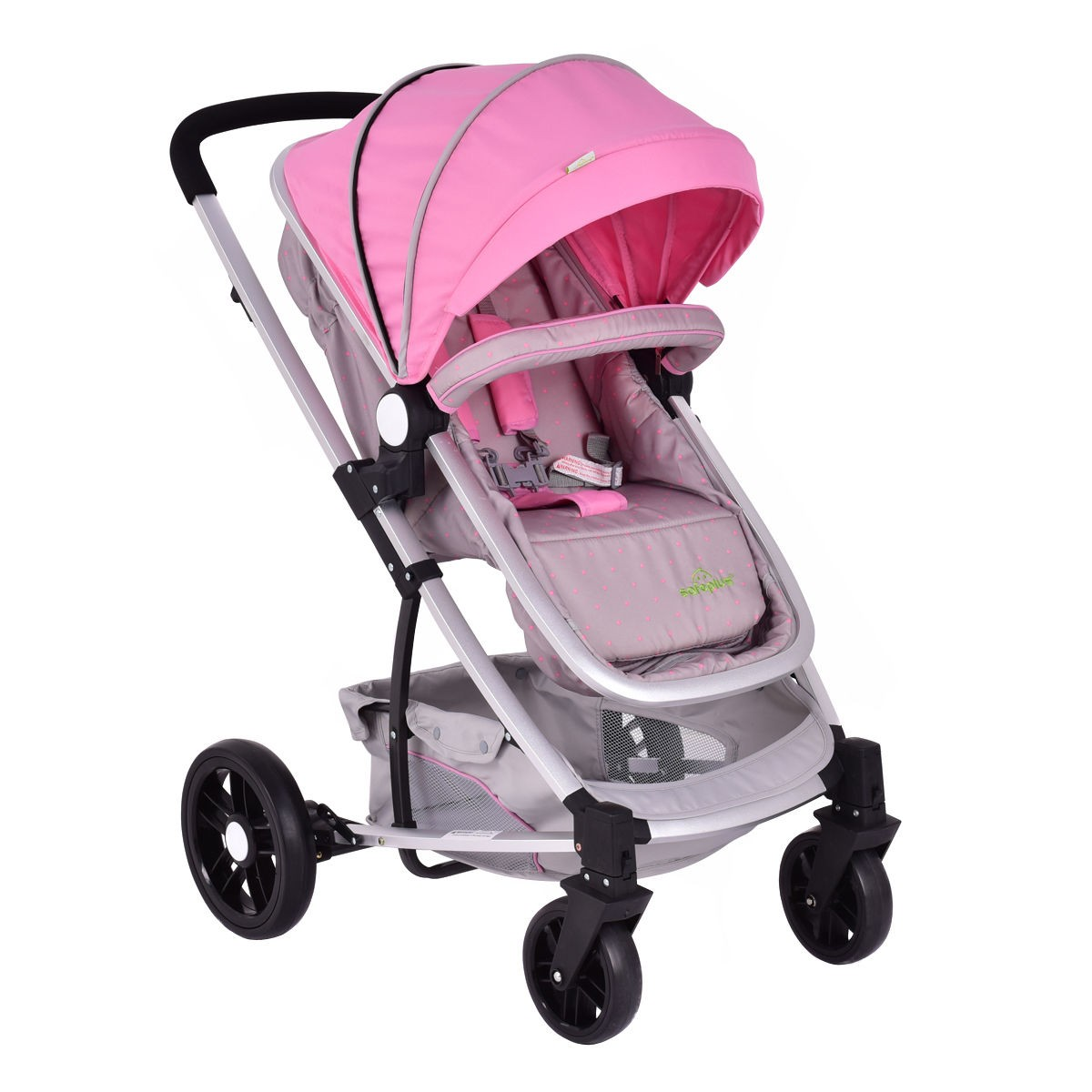 2 in1 foldable baby stroller kids travel newborn infant buggy pushchair us stock. Black Bedroom Furniture Sets. Home Design Ideas