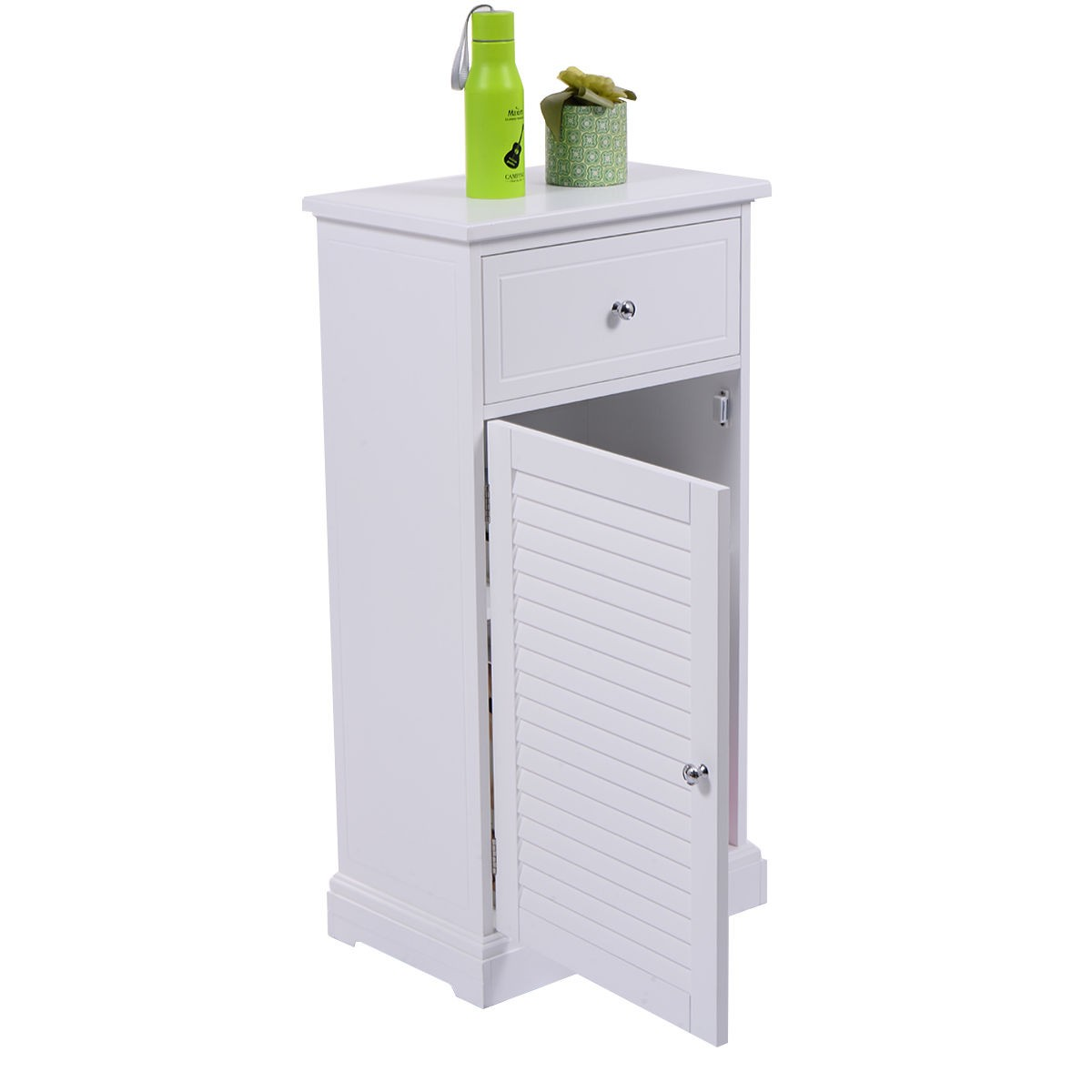 bathroom cabinet door organizer storage floor cabinet shutter door bathroom cupboard shelf 11026